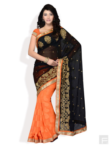 Butti-Full Half & Half Saree