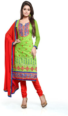 Khushali Chanderi Self Design Salwar Suit Dupatta Material(Unstitched)